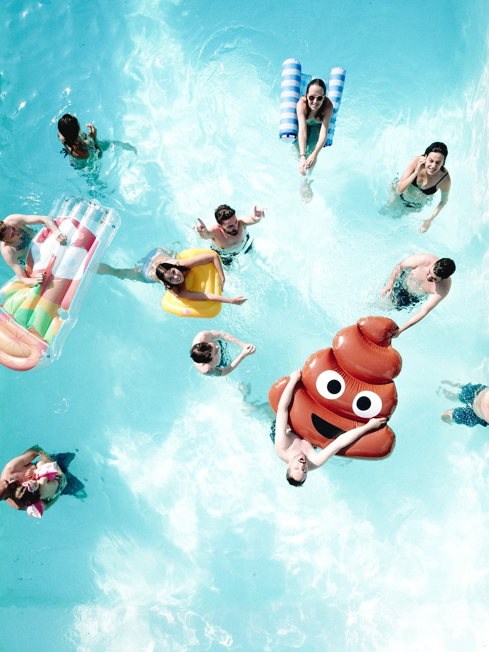group of people swimming