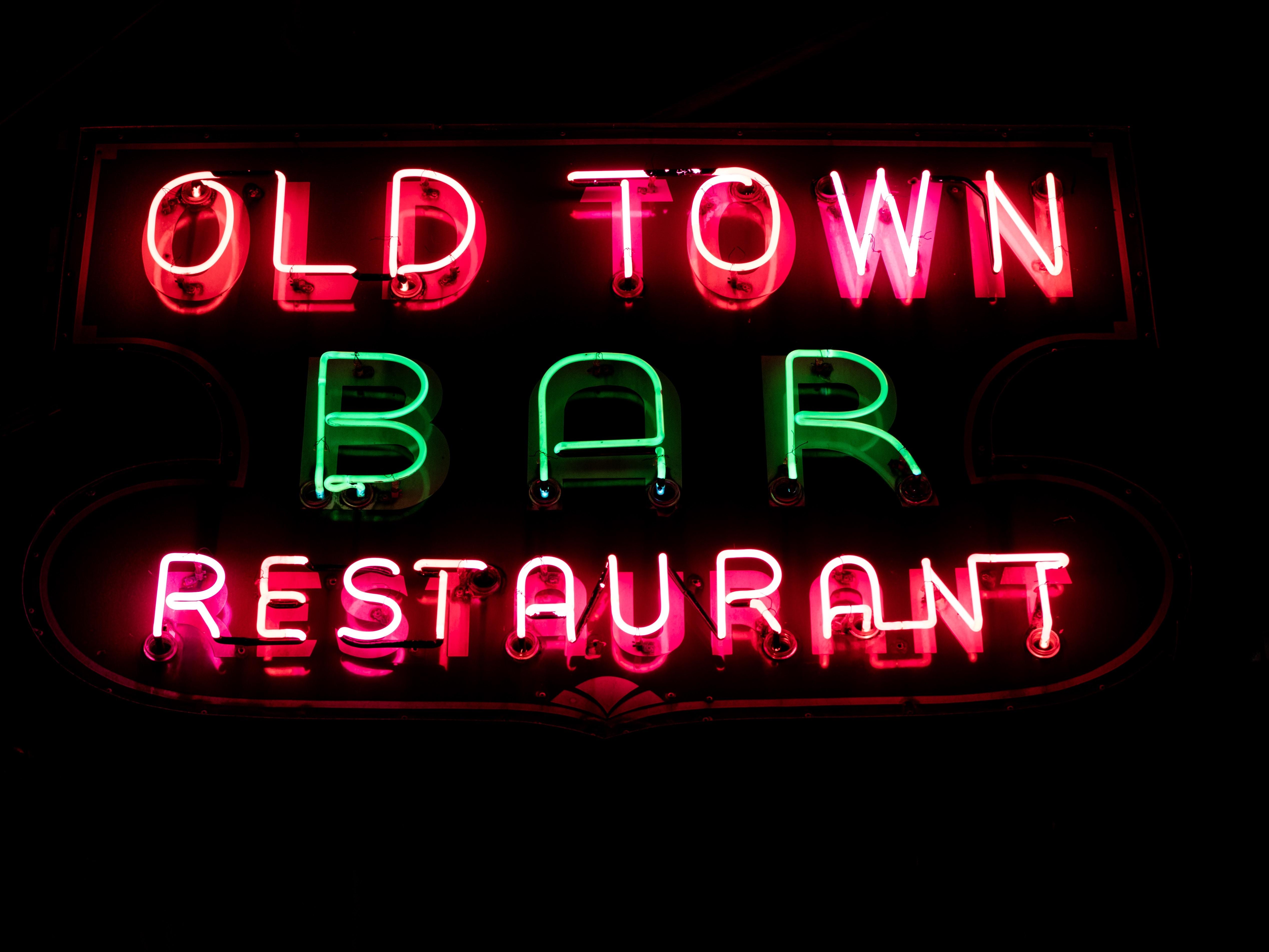 old town bar restaurant signage