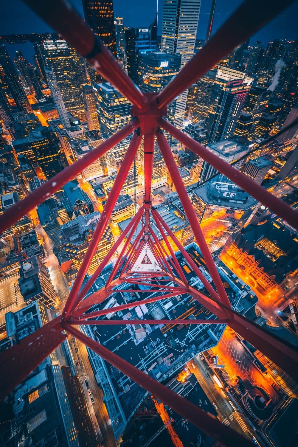 red metal tower