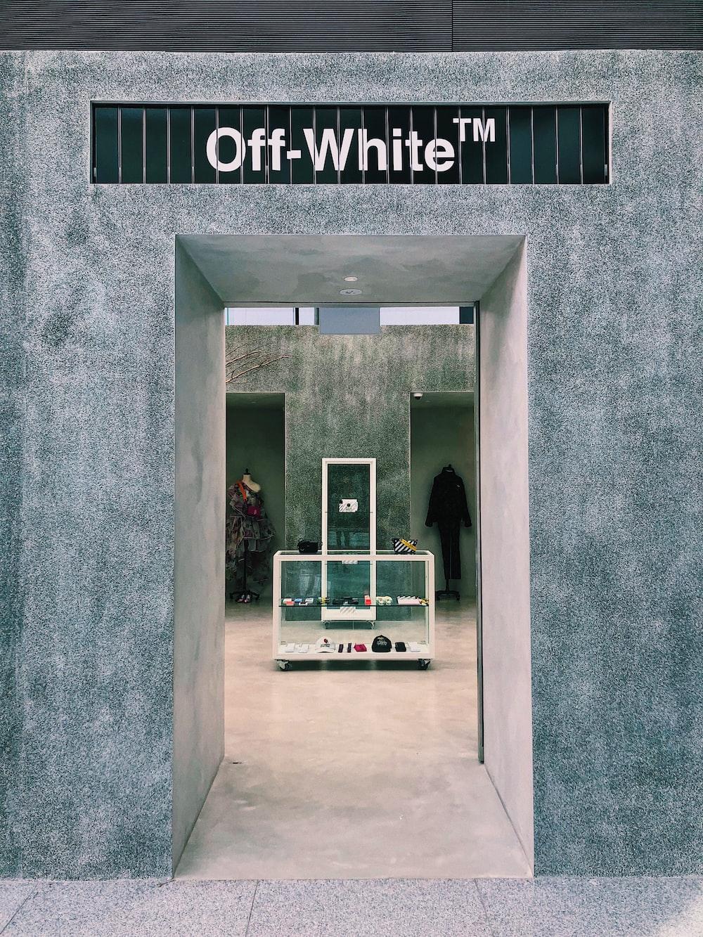 off-white walls