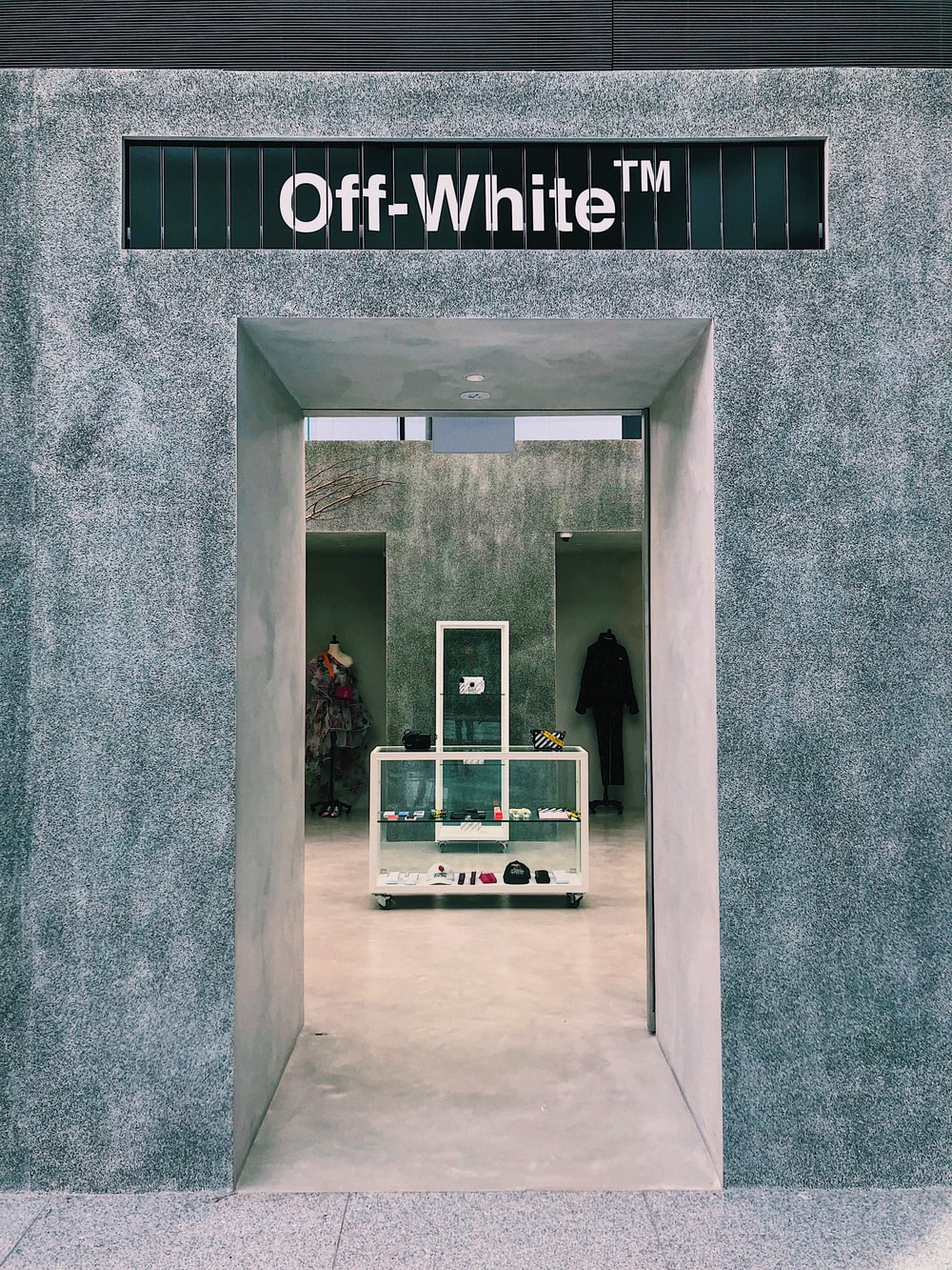 off-white walls
