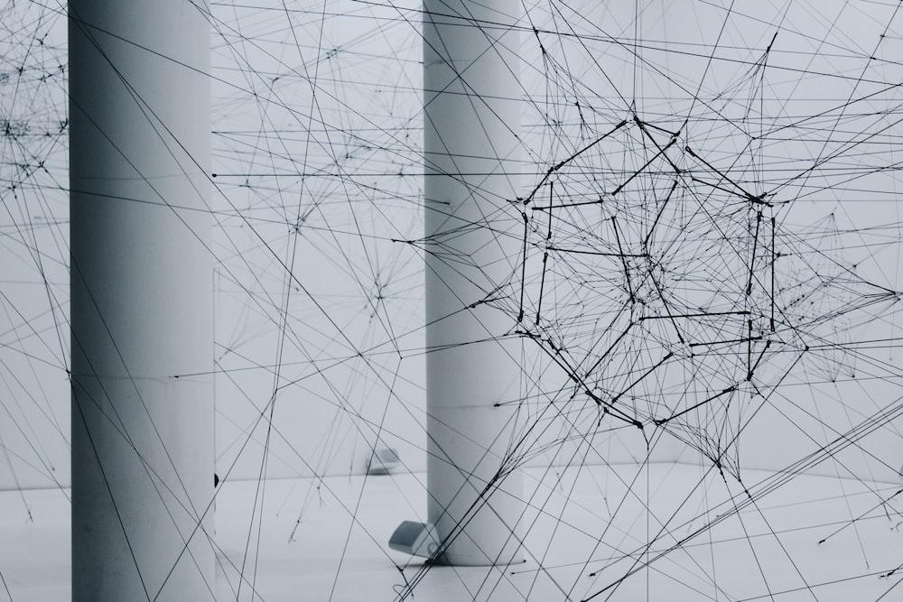 black geometric artwork