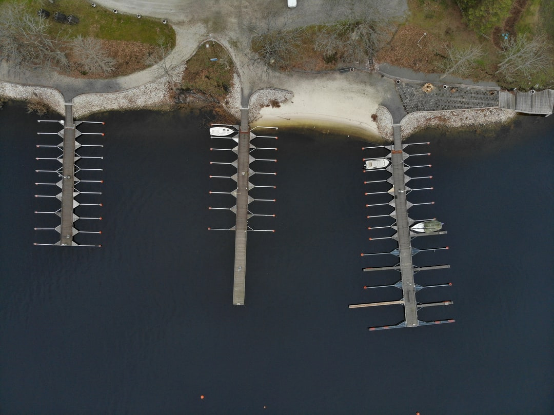 I tokk the photo with my drone above the piers.