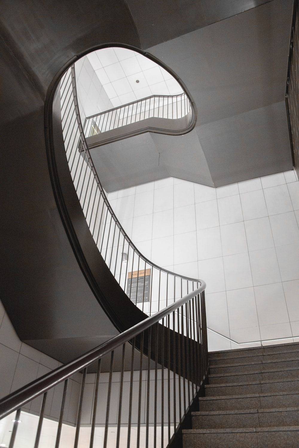 concrete stairs inside buildings