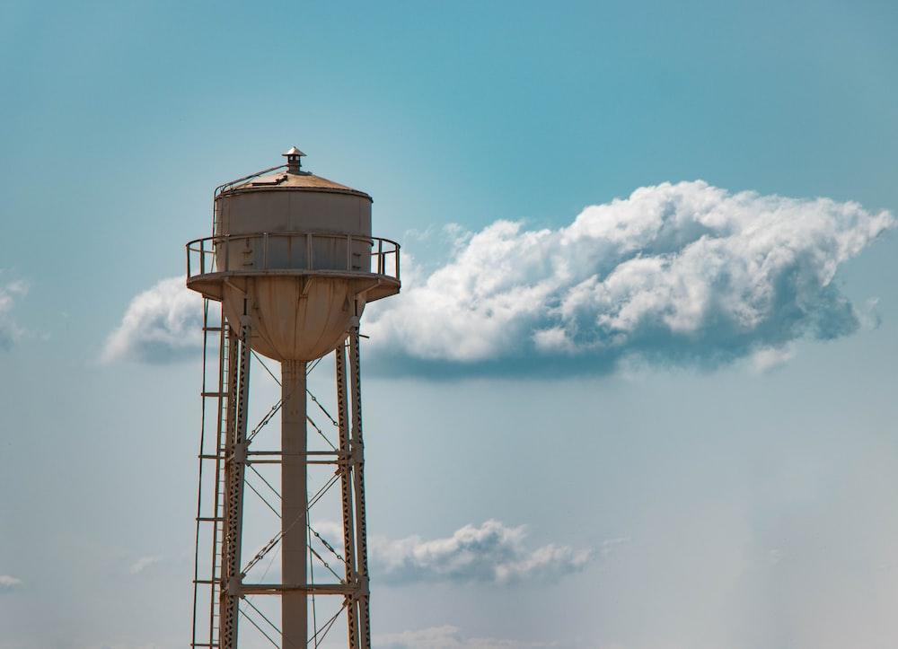 gray tower tank during daytime