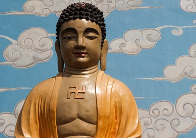 buddha statue buddhist temple zoom background
