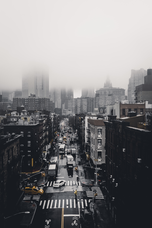bird's eye view of street