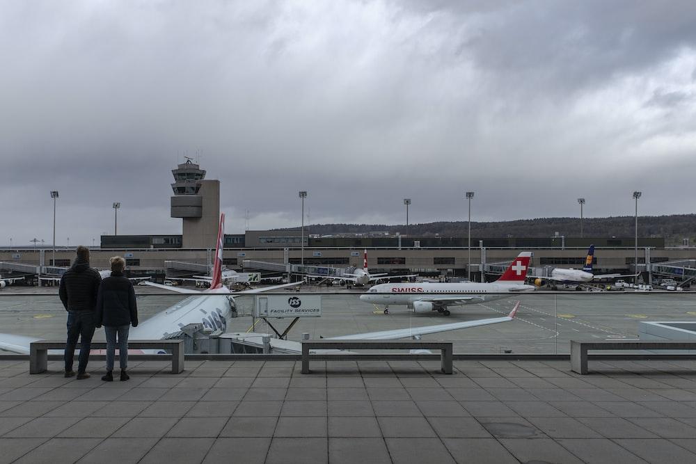 passenger plane on airport