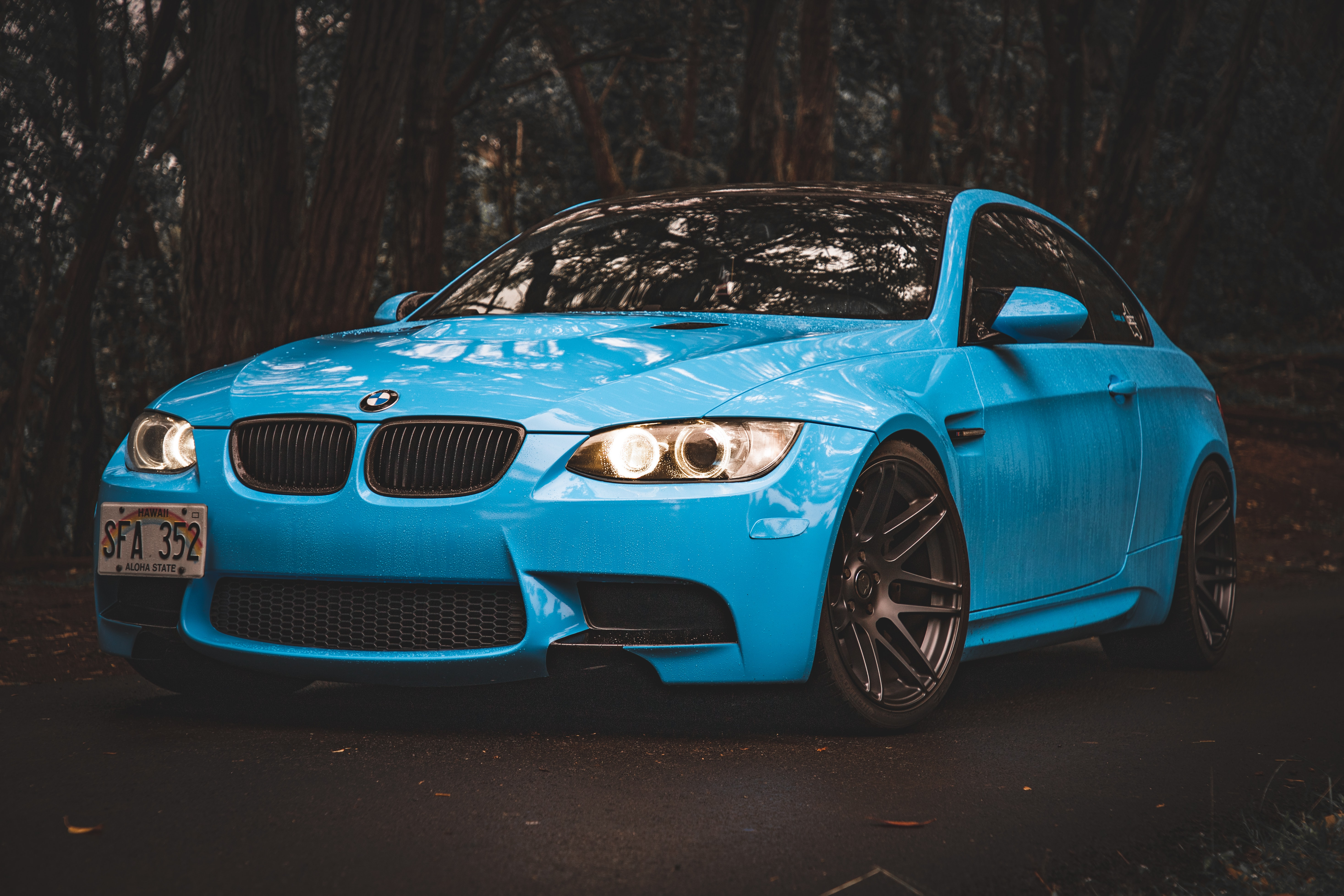 blue BMW 3-series
