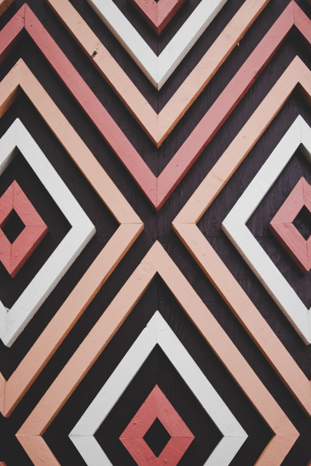 pink, black, and white wall