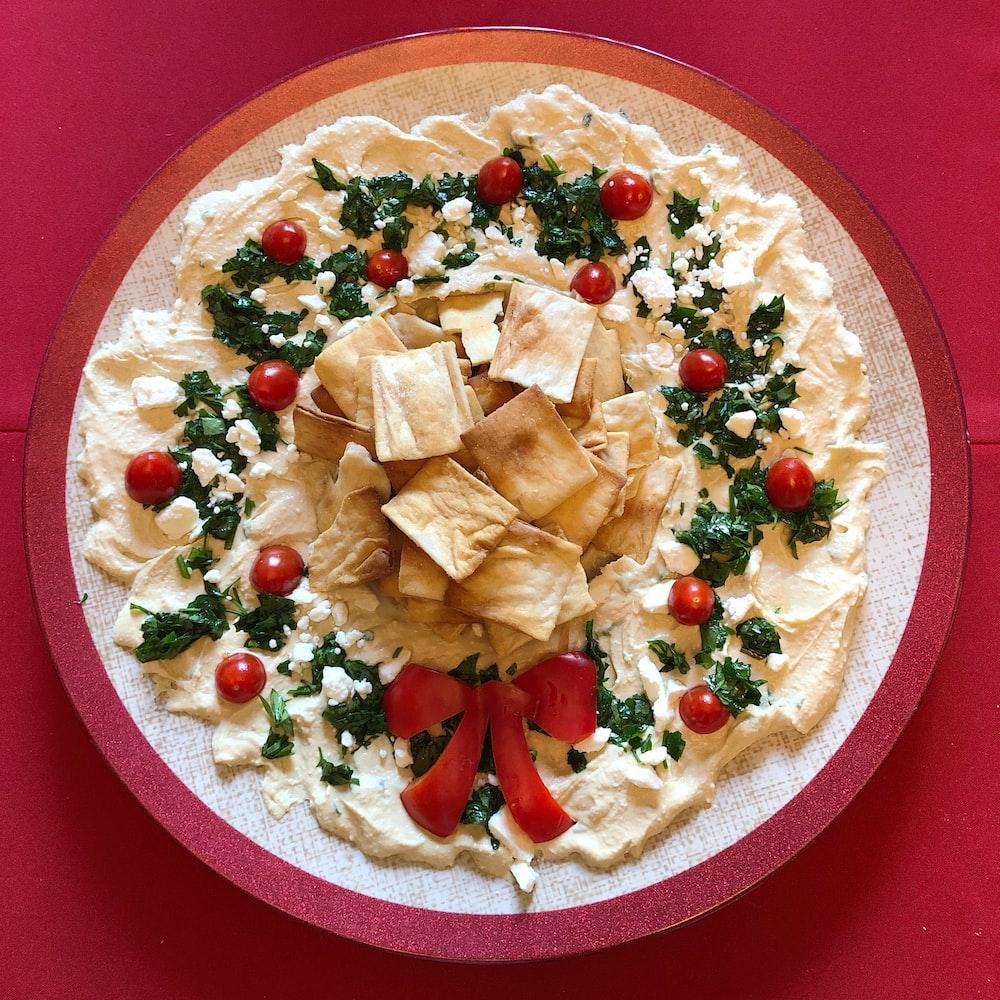dessert food on plate