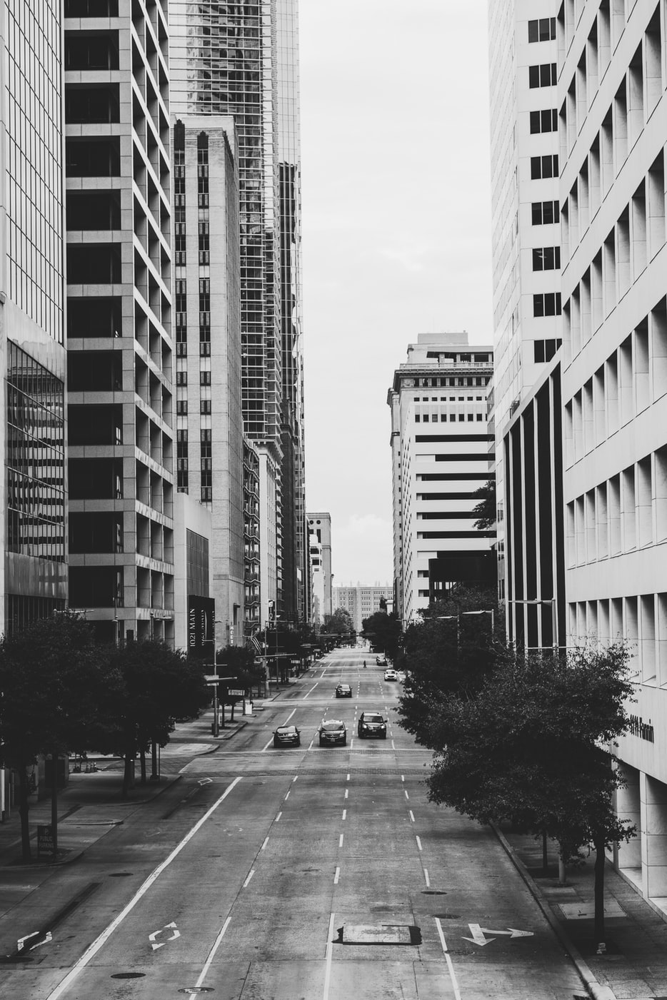 city street in downtown Houston
