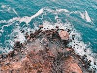 high-angle photography of beach