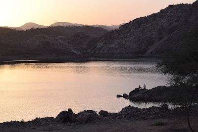 Bari grayscale photo of lake