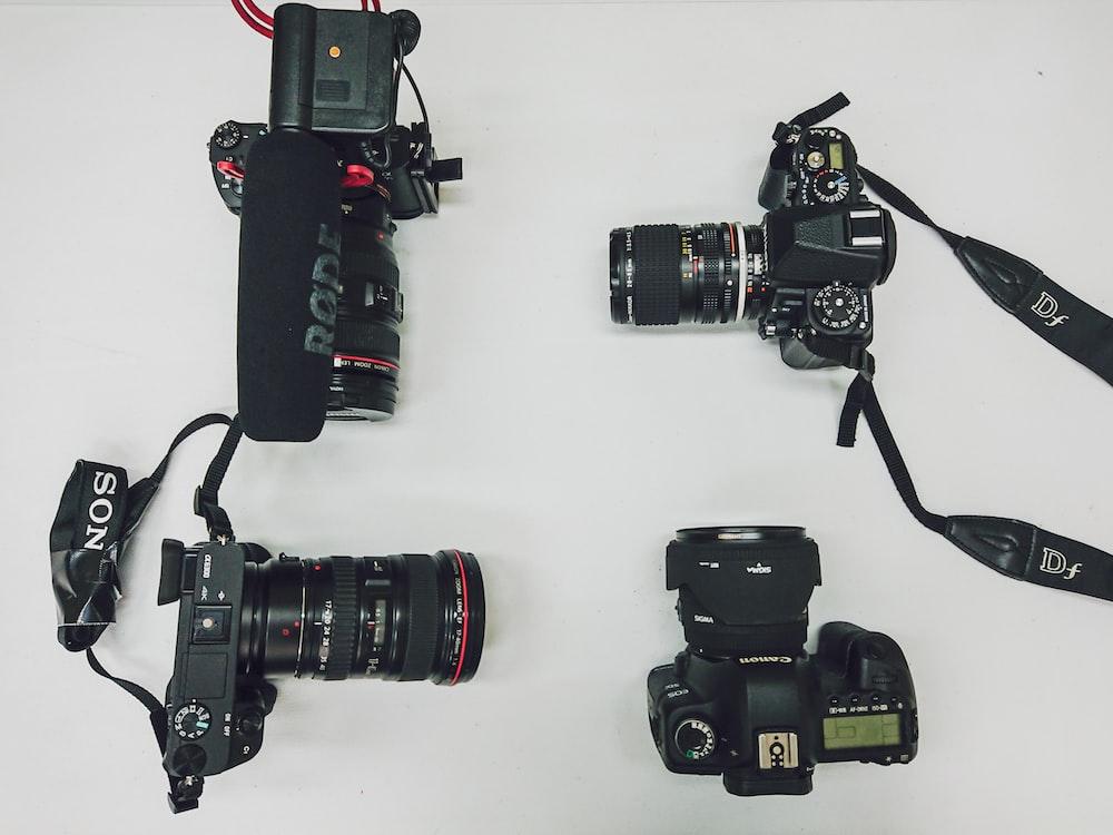 four DSLR cameras