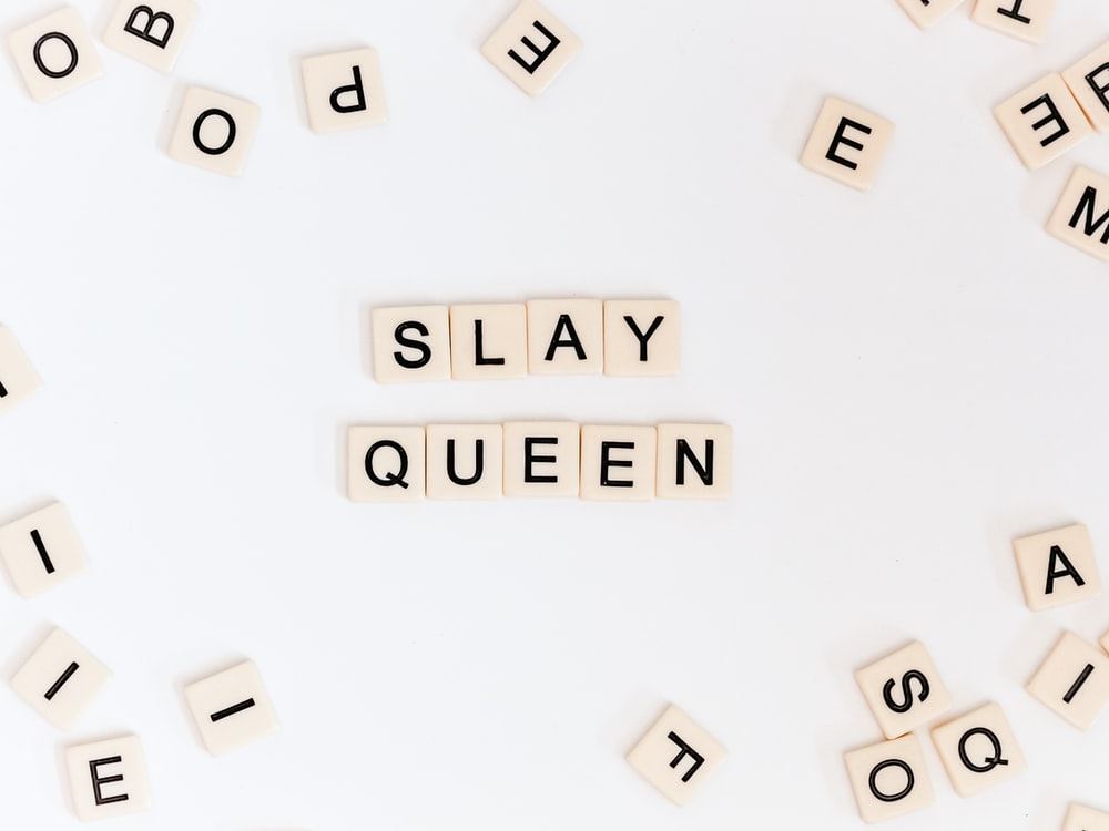 Slay Queen crossword piece