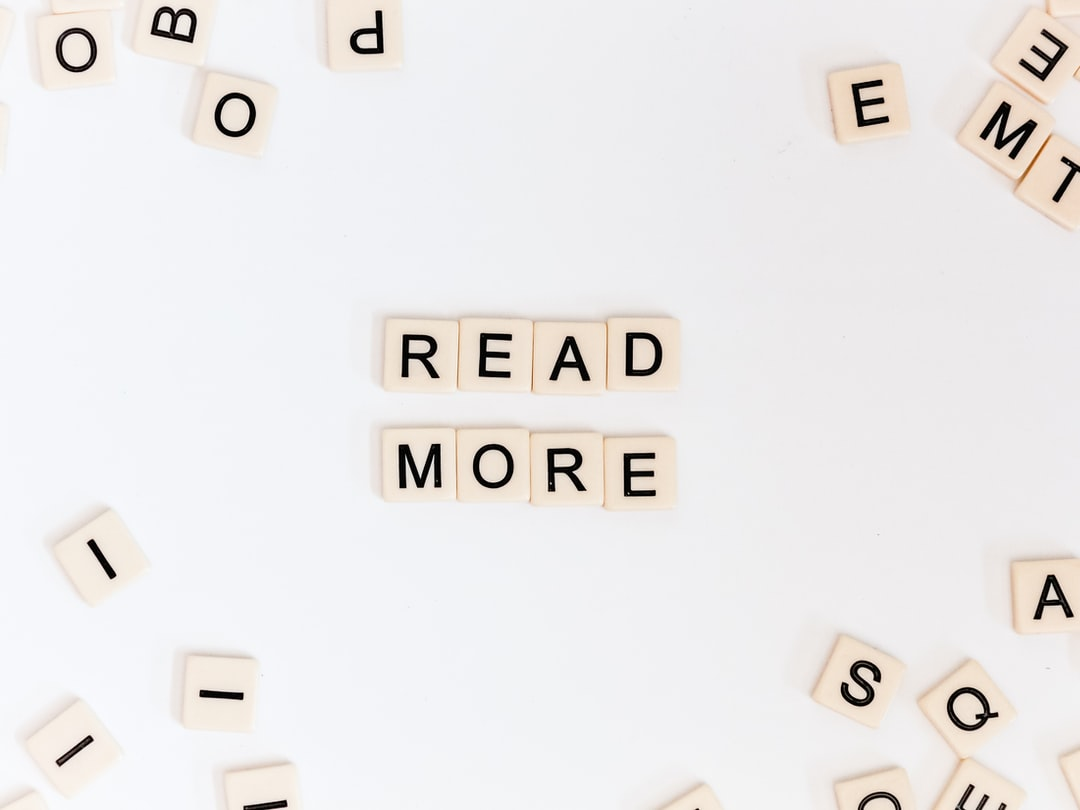 read more spelled out in block scrabble type letters