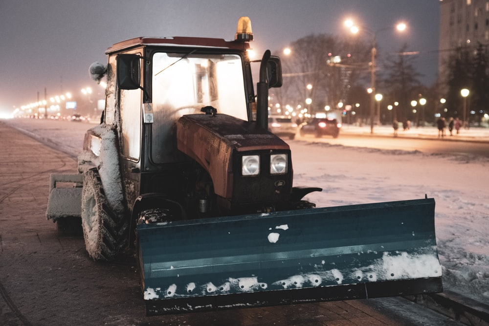 tractor with snow blade