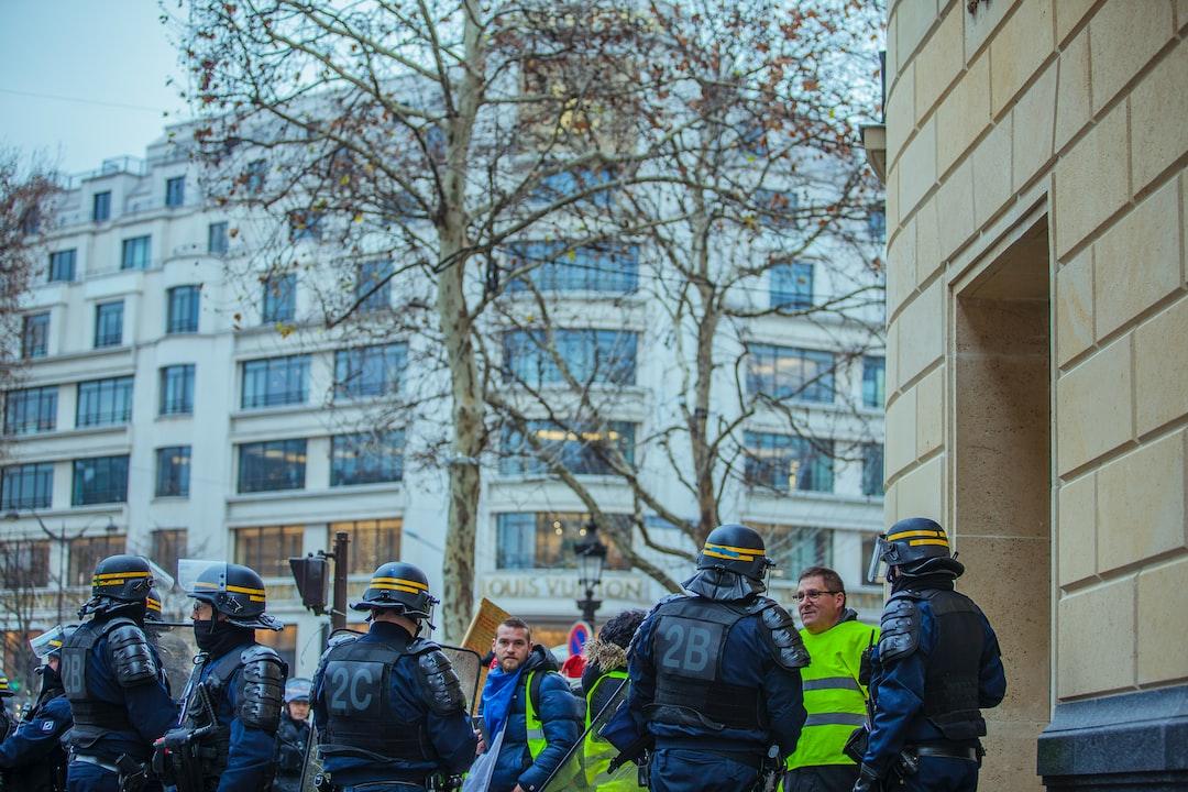 Act VII of yellow vest protest in Paris