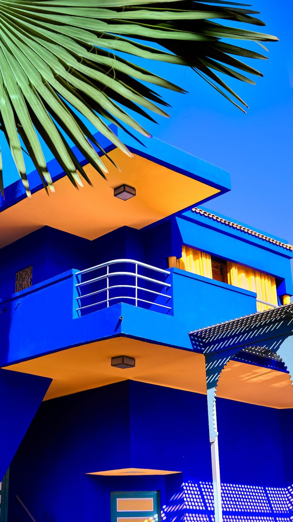 blue and orange building