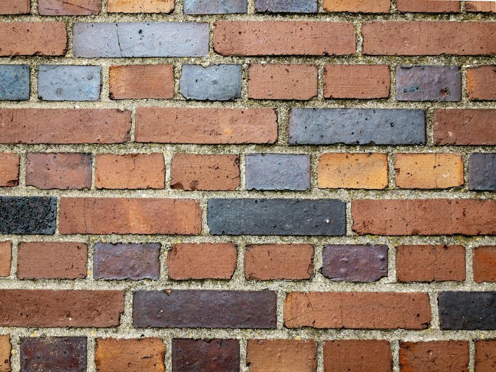 brown and black wall brick