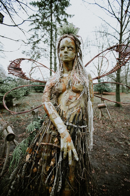wooden woman art