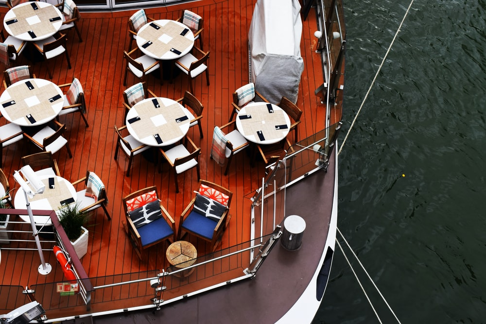 aerial view of cruise deck