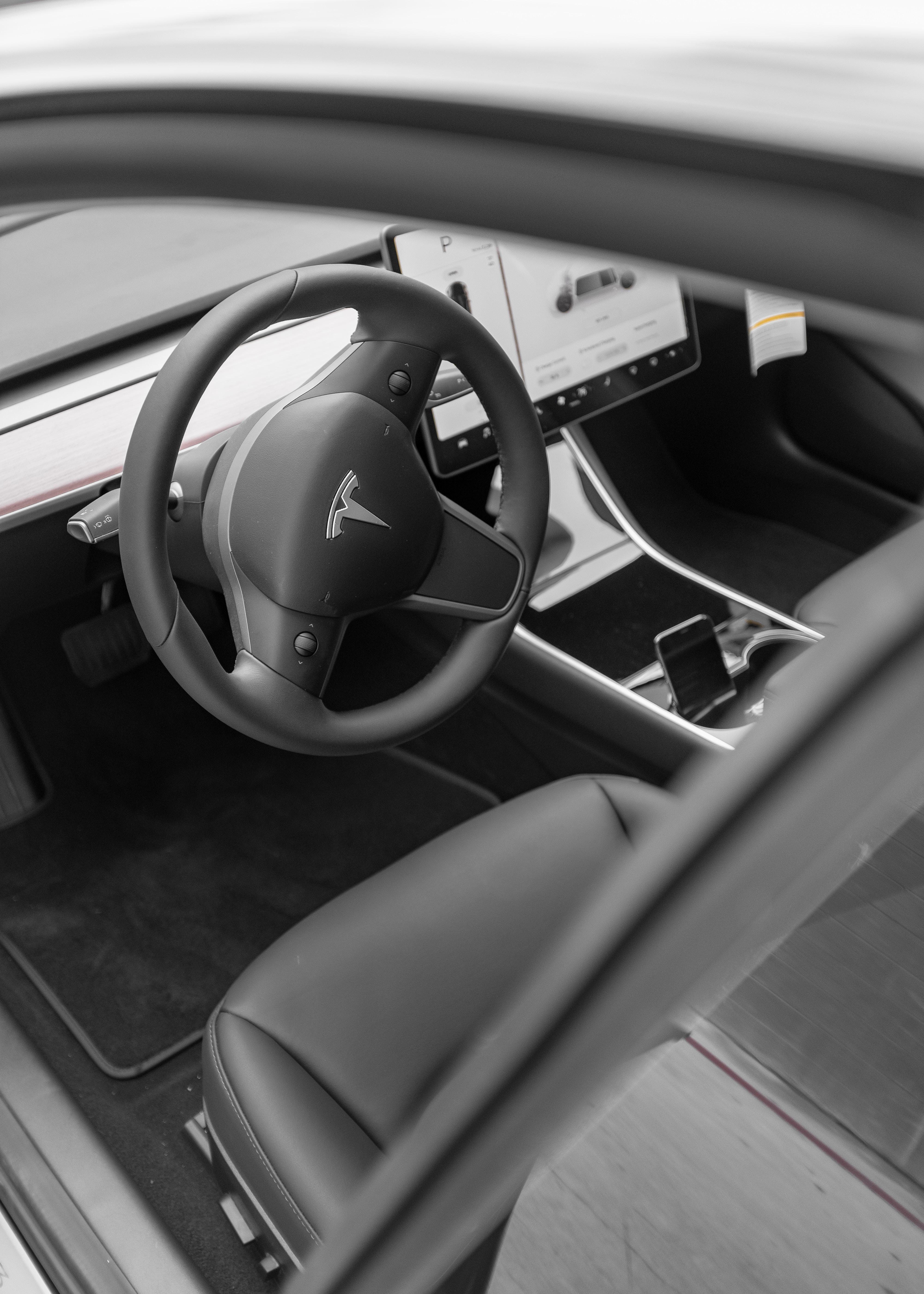 black and gray Citroen car interior