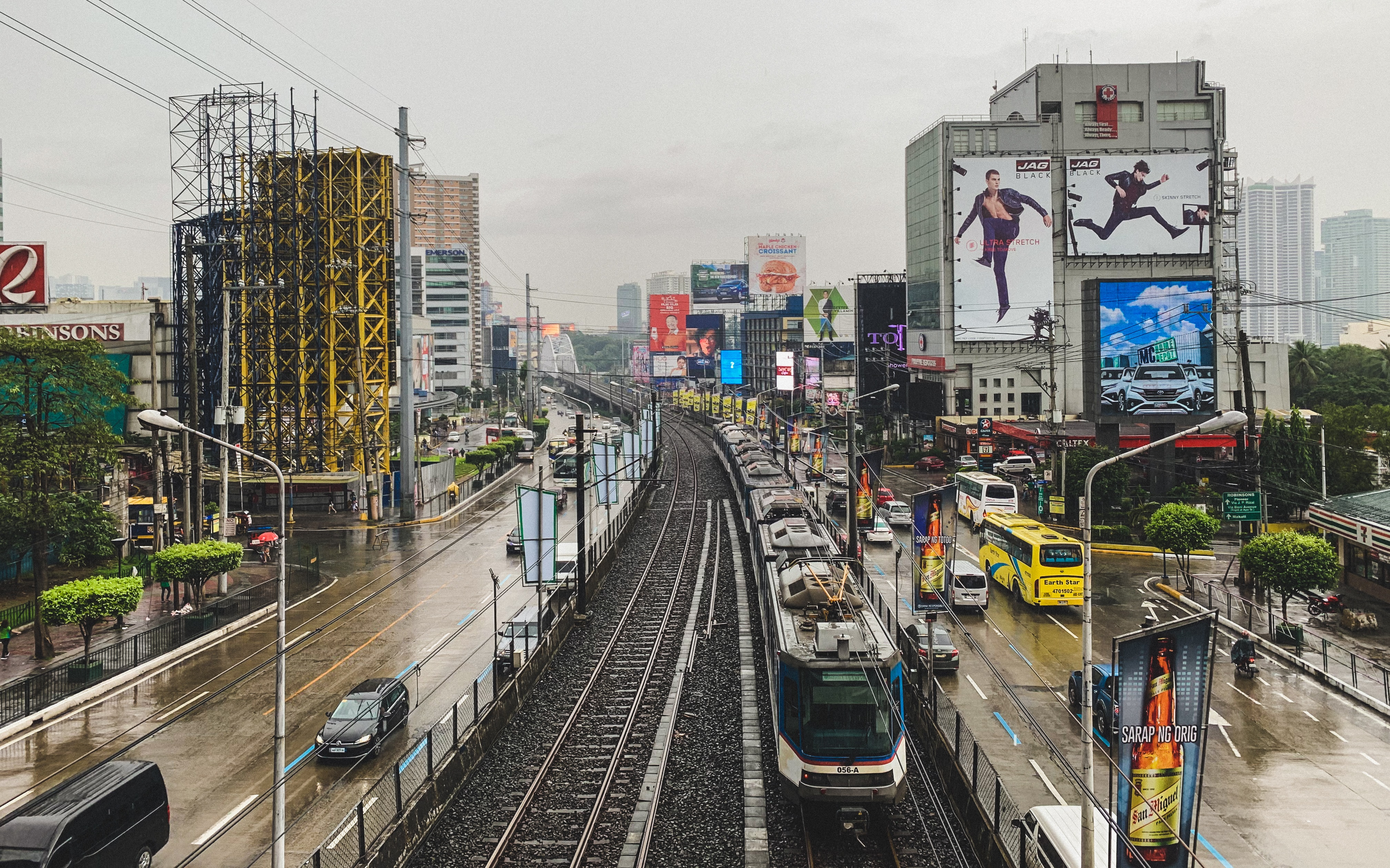 aerial photo of EDSA, Mandaluyong, Philippines