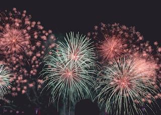 fireworks on mid air