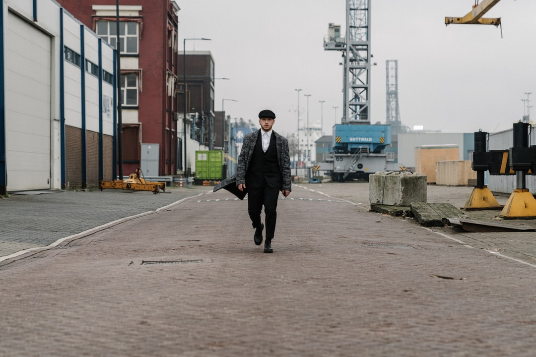 We wanted to create a Peaky Blinders-like photo, so the model suited up and we found this industrial harbour area in the small city I used to live in. We did a photoshoot there and this was my favourite.