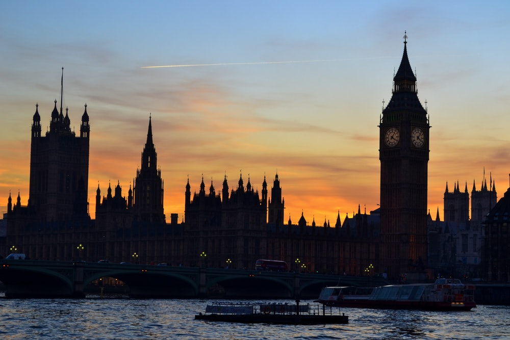 silhouette photography London, Big Ben