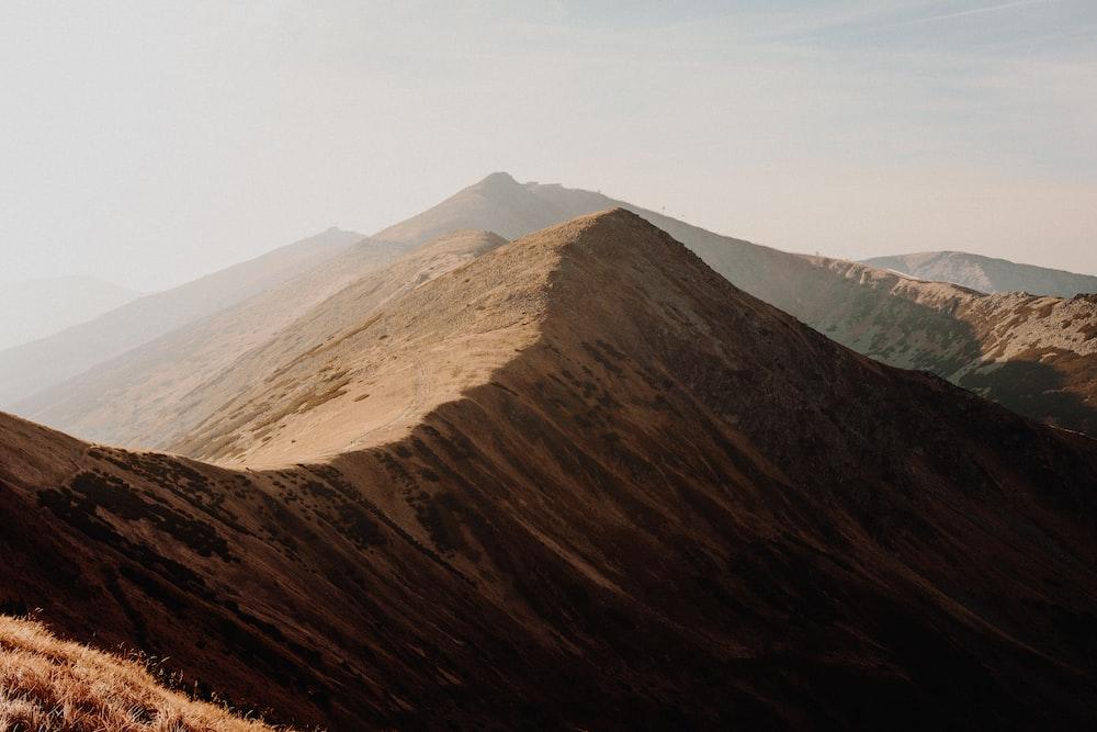 brown mountain during daytime