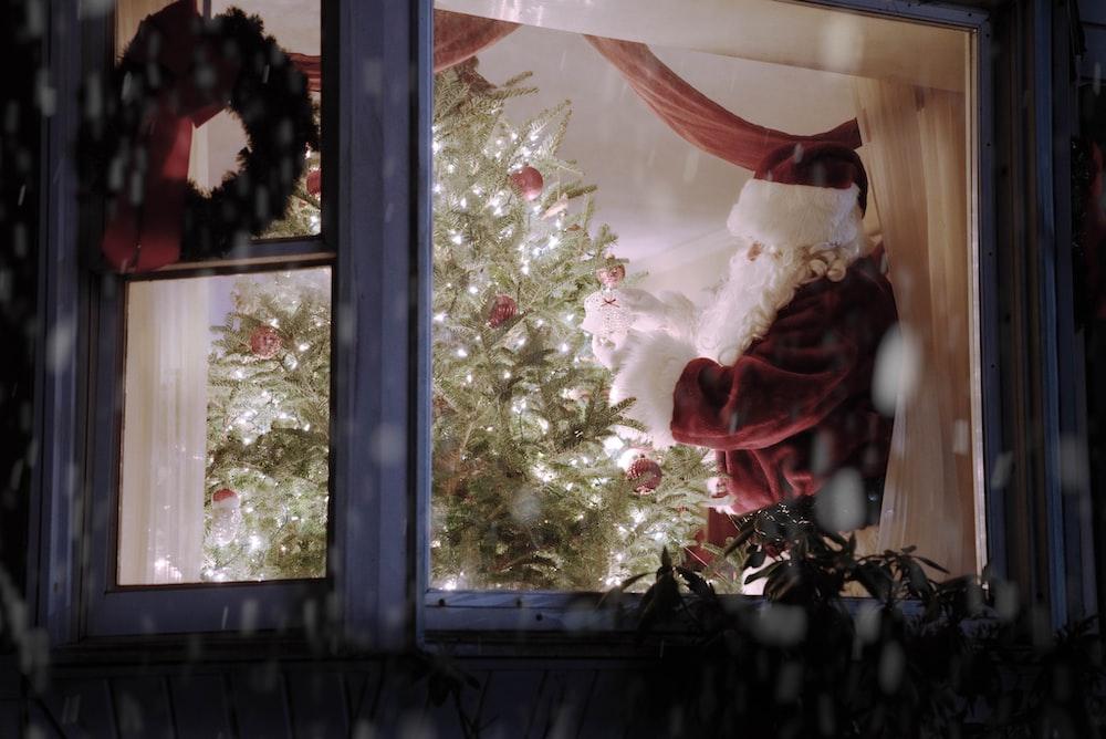 Santa Claus inside house