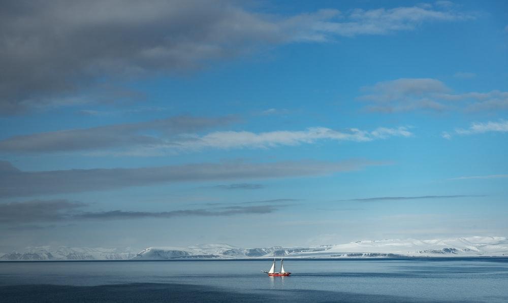 boat sailing painting