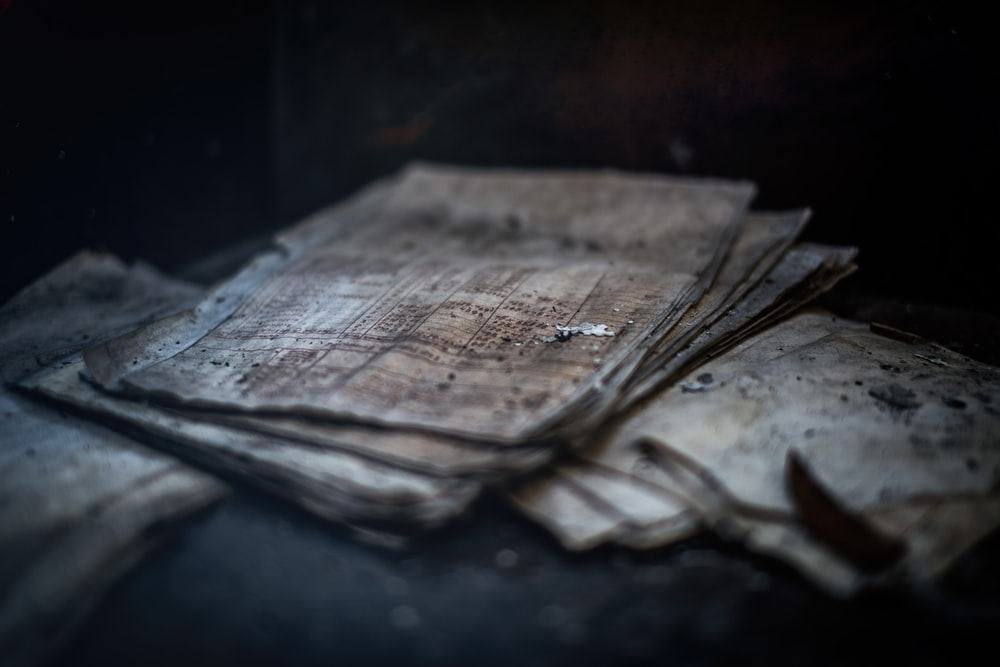 brown sheet of papers