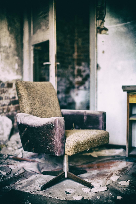 empty brown sofa chair