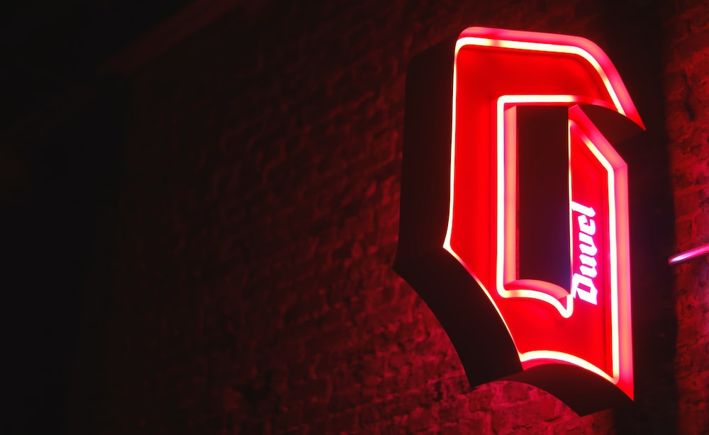 red Duvel neon signage