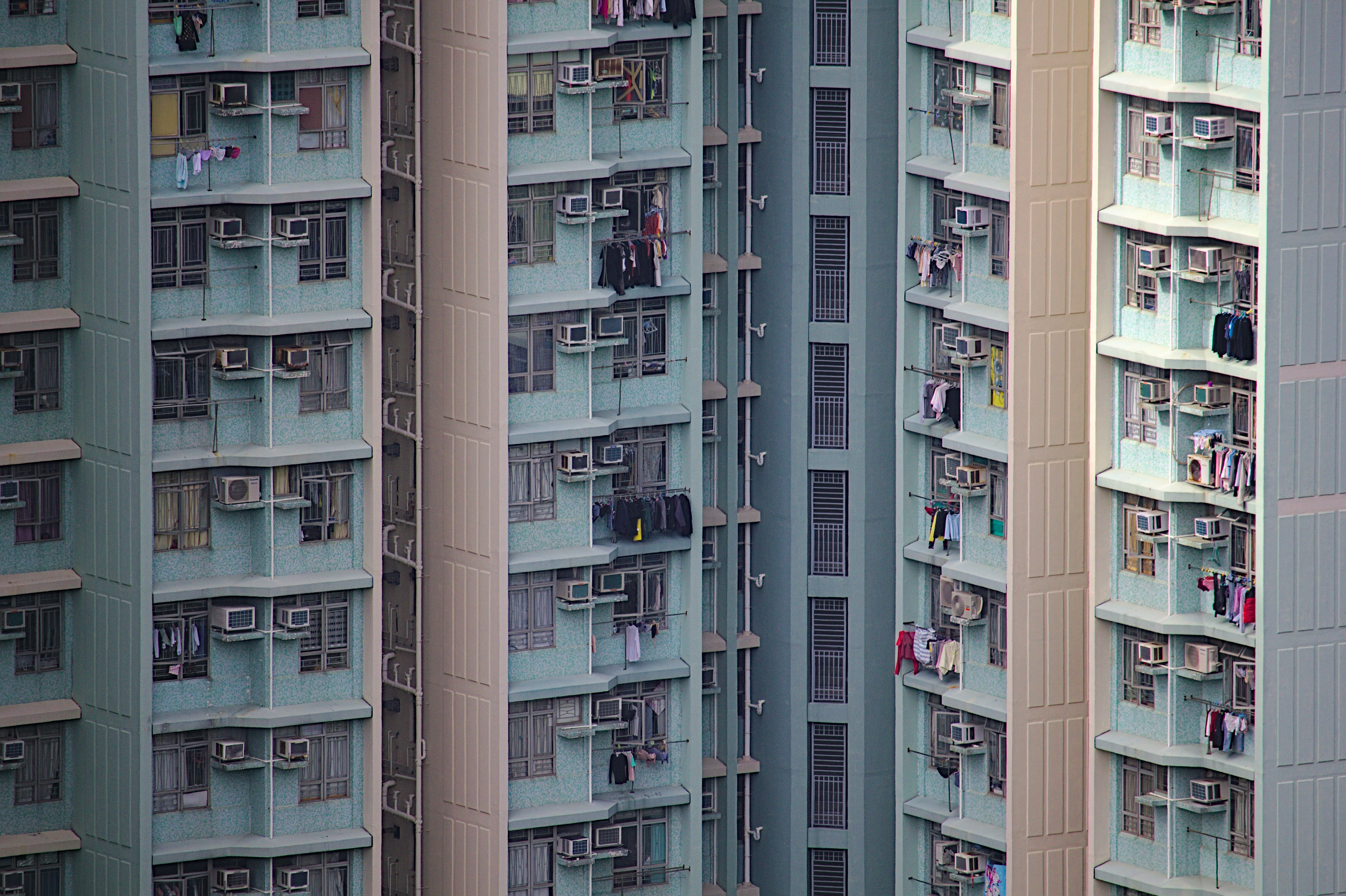 Clothes high-rise buildings