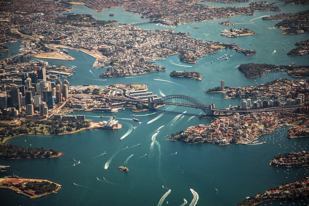 Am aerial view of Australia