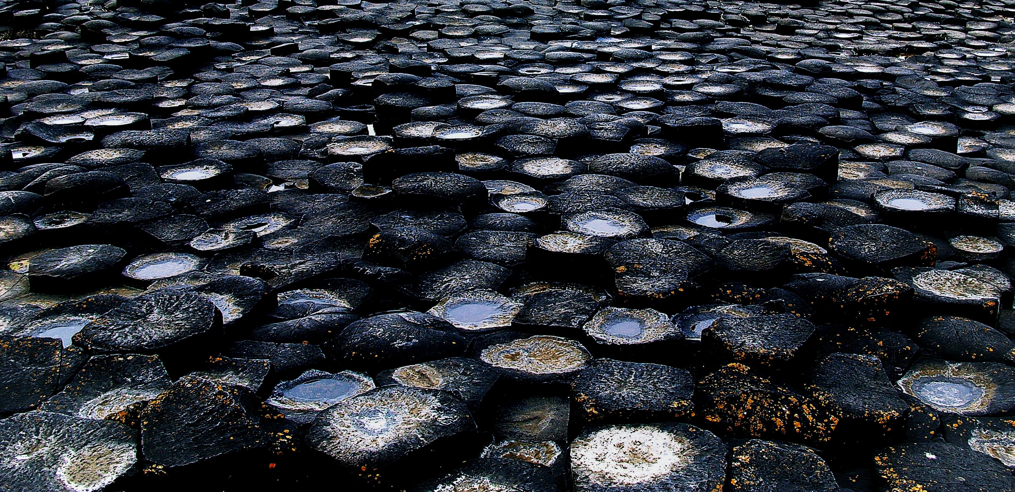 black and gray stones