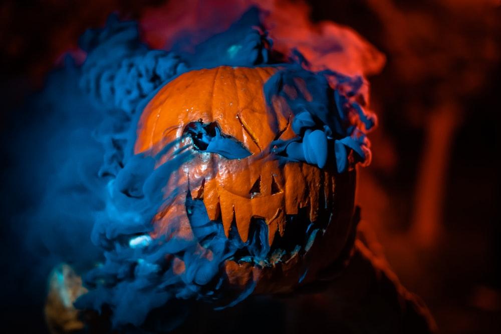 orange Jack-o'-lantern