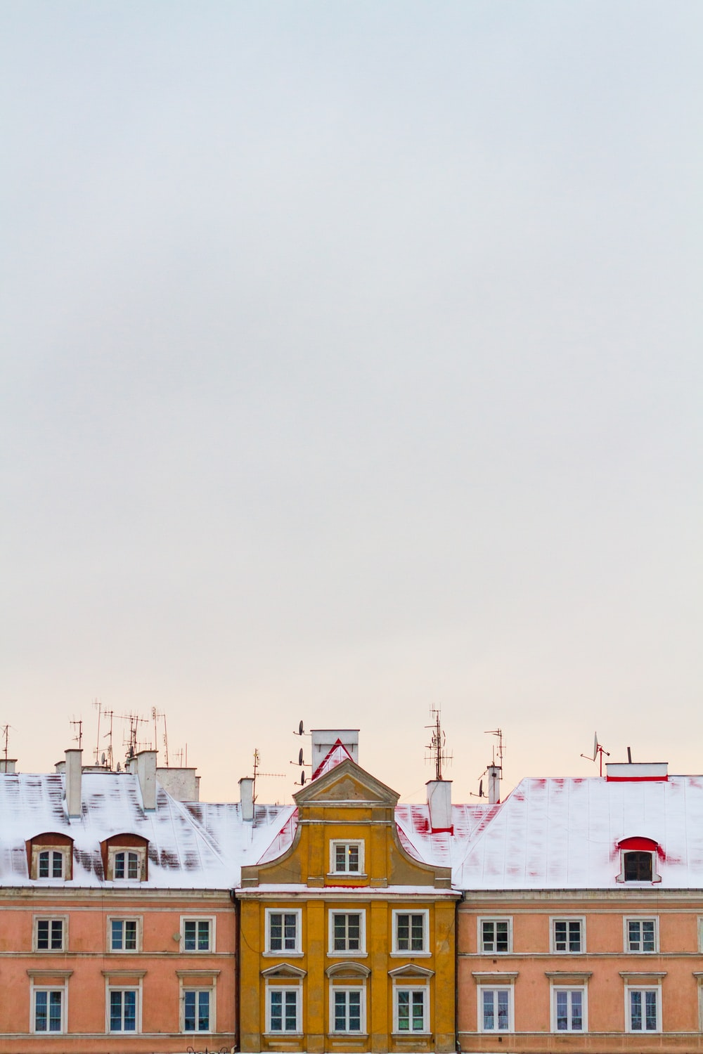 three painted houses
