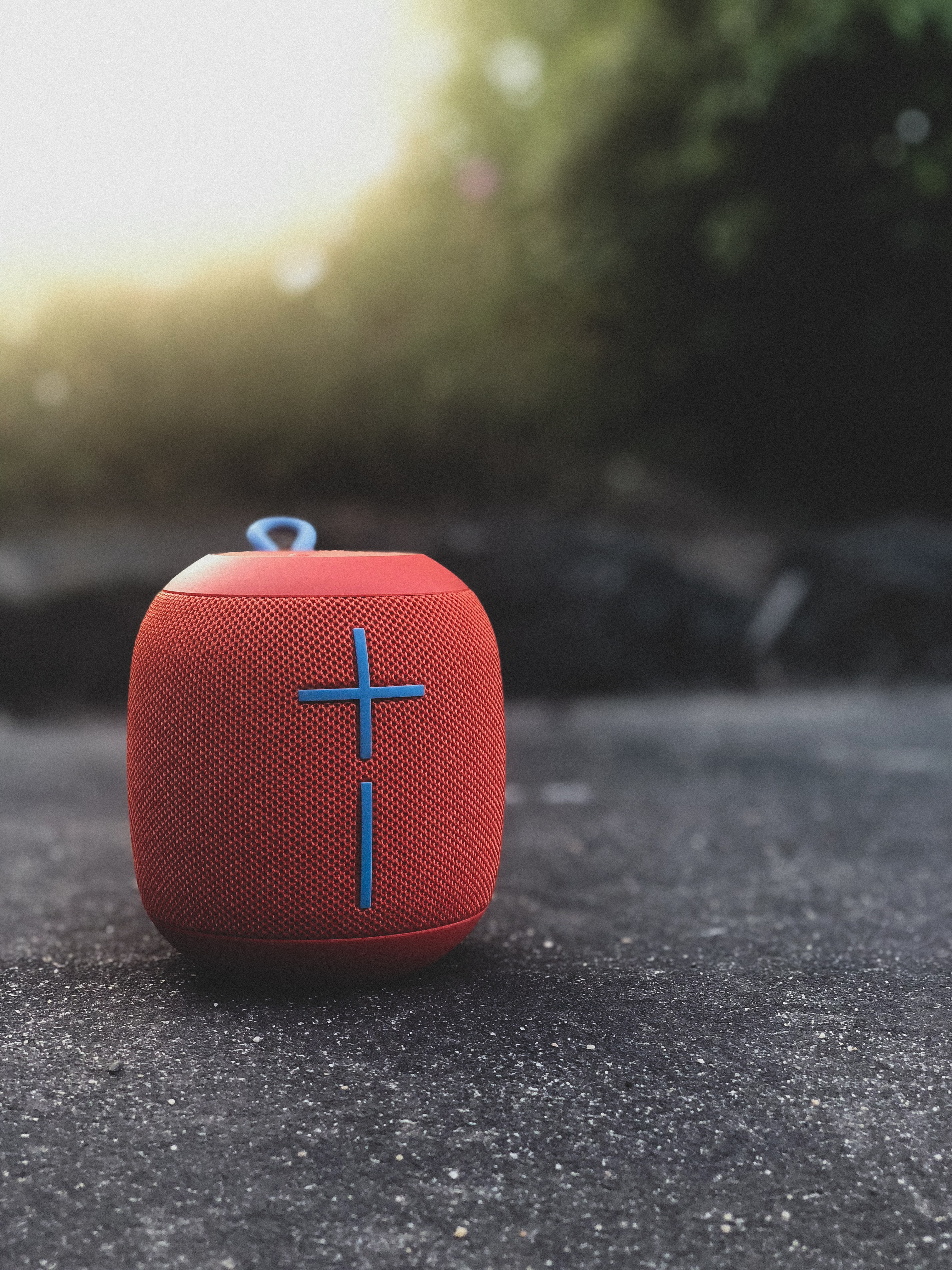 red and black UE portable speaker
