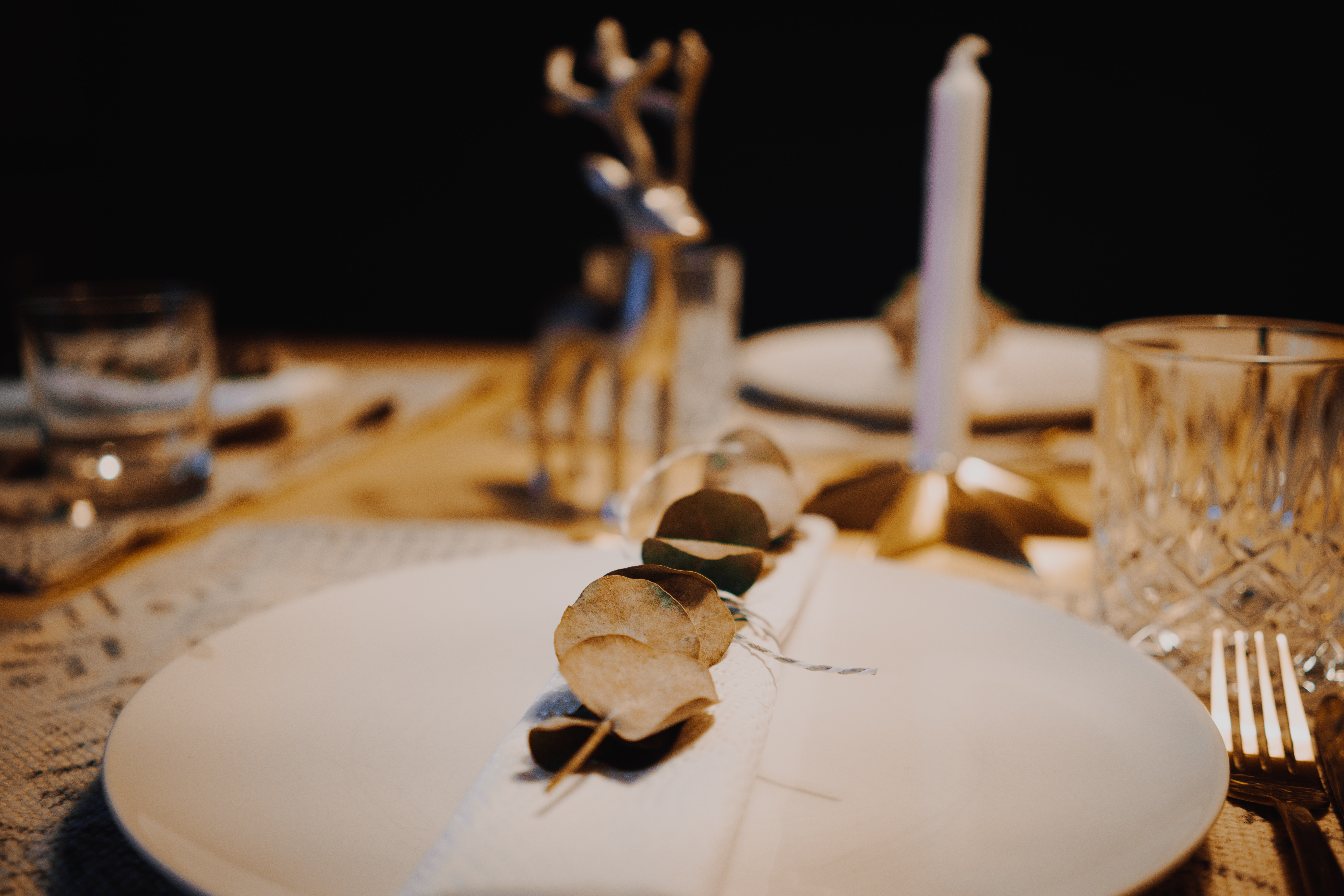 white and brown wooden table decor