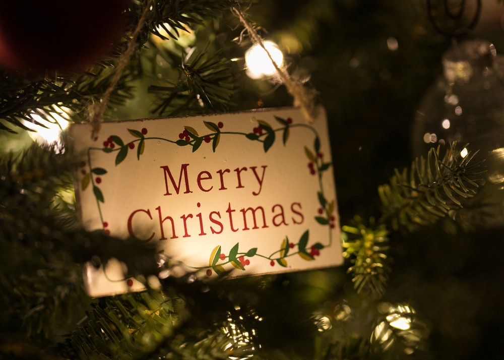 Merry Christmas signage