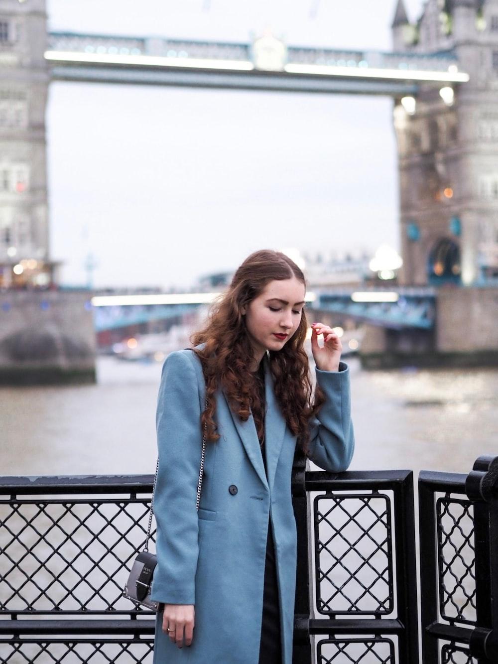 woman standing near Tower Bridge London