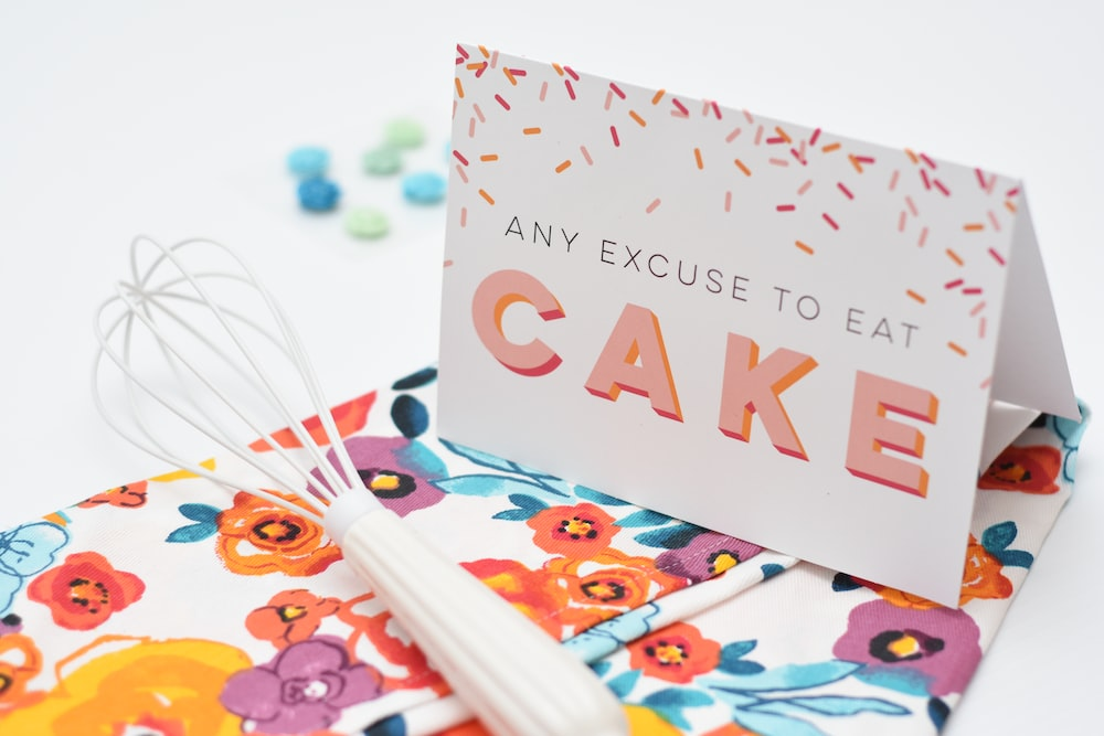any excuse to eat cake card
