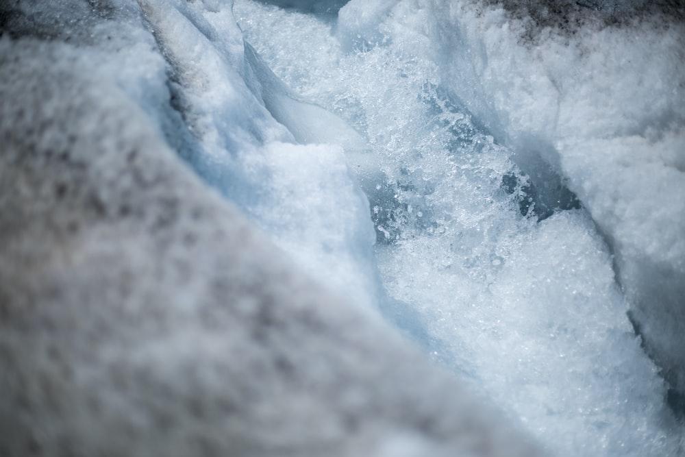 close-up photo of ice berg