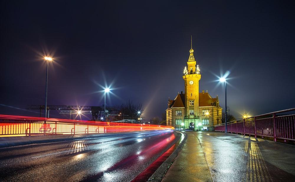 lighted church